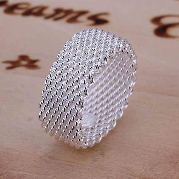 The best gift wedding nice fashion exquisite silver lovely mesh cute women ring silver color classic models silver jewelry R040