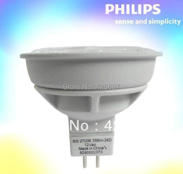 PHILIPS verlichting, Essentiële LED 5 50 W 2700 K 6500 K MR16 24D ...