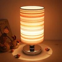 Abajur luz decorativa moderna infantil  lâmpada de cabeceira de tecido luz de decoração do quarto das crianças