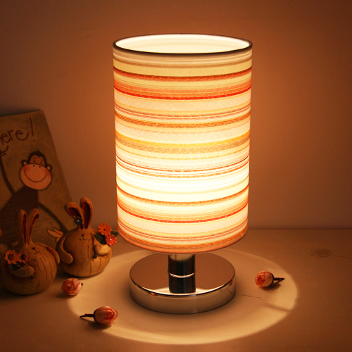 Fabric Bedside Lamp Bedroom Light Decoration Light Abajur Modern Children Kid's Bedroom Decoration Lamp