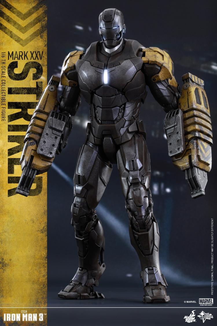 Scorching Toys MMS277 1/6 Scale Iron Man three MK 25 Striker Tony Stark Motion Determine Restricted Inventory