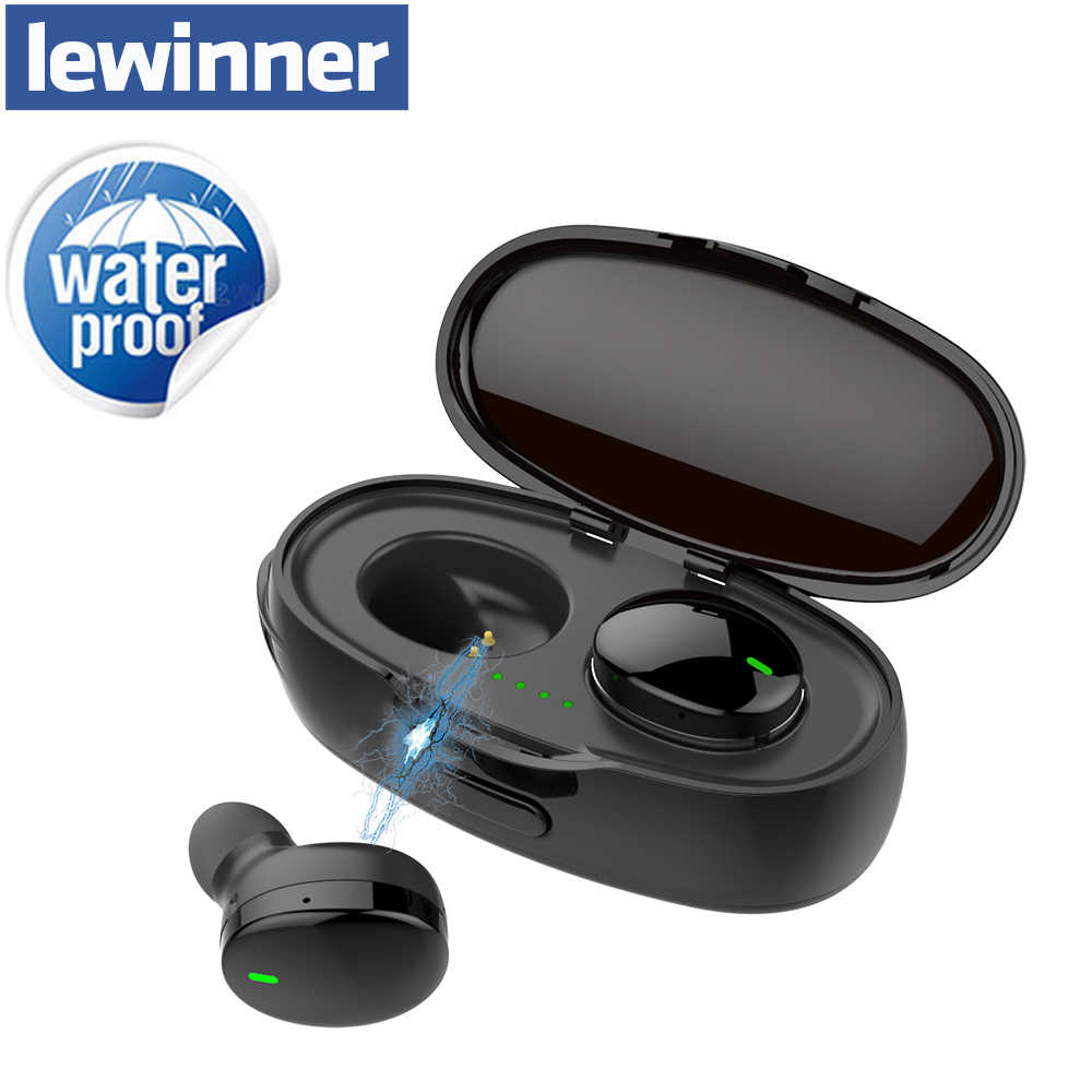 Lewinner Bluetooth Earphones in-Ear Wireless Earbuds Stereo Bass Sound Noise Cancellation mini TWS Earphone