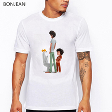 Men clothes 2019 Funny t shirts father and son Cartoon tee shirt homme stranger things t-  shirt gothic top tee streetwear цена и фото