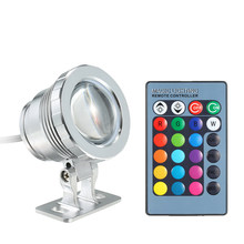 10W Led Remote Controlled RGB 16 Colors Submersible Light Underwater Night Lamp Vase Bowl Outdoor Garden Party Decoration(China)