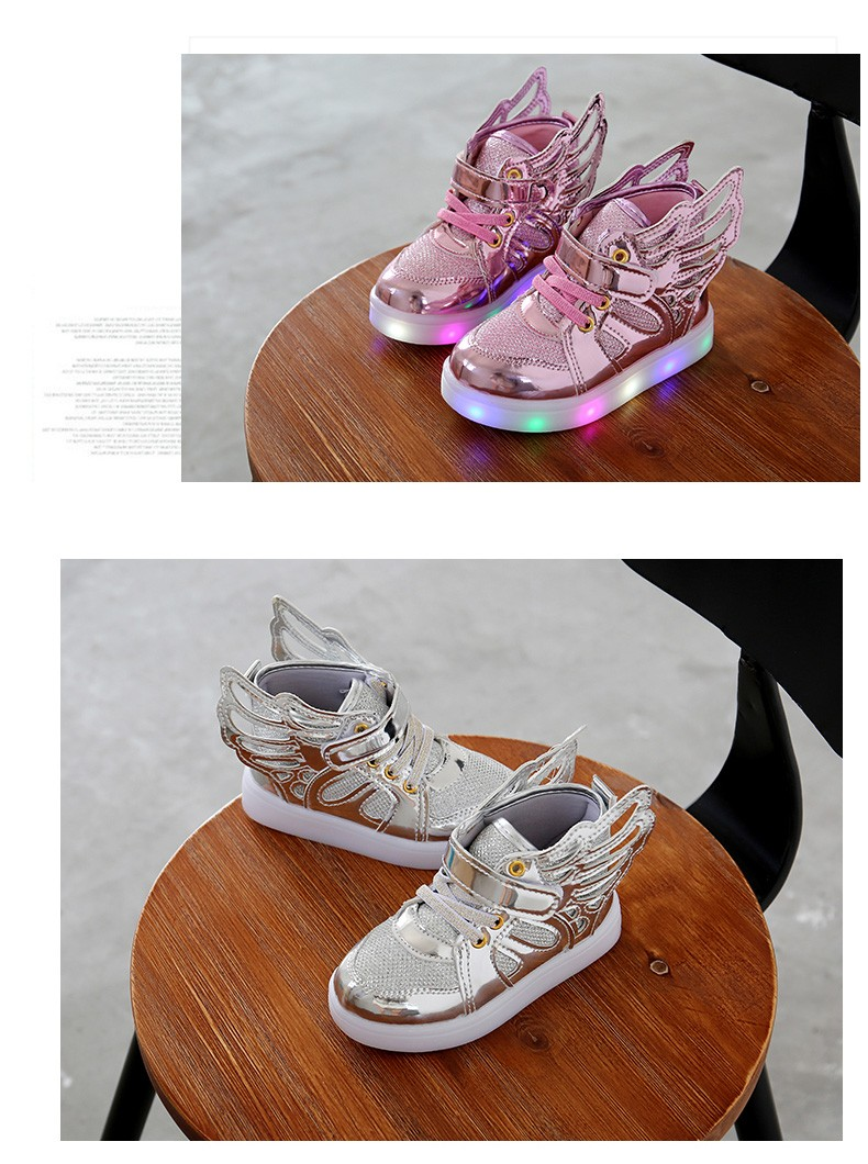 17 Autumn Kids LED luminous Sneakers Glowing Brand Child Breathable Light Flashing Baby Boys Casual Shoes for girl size 21~30 8