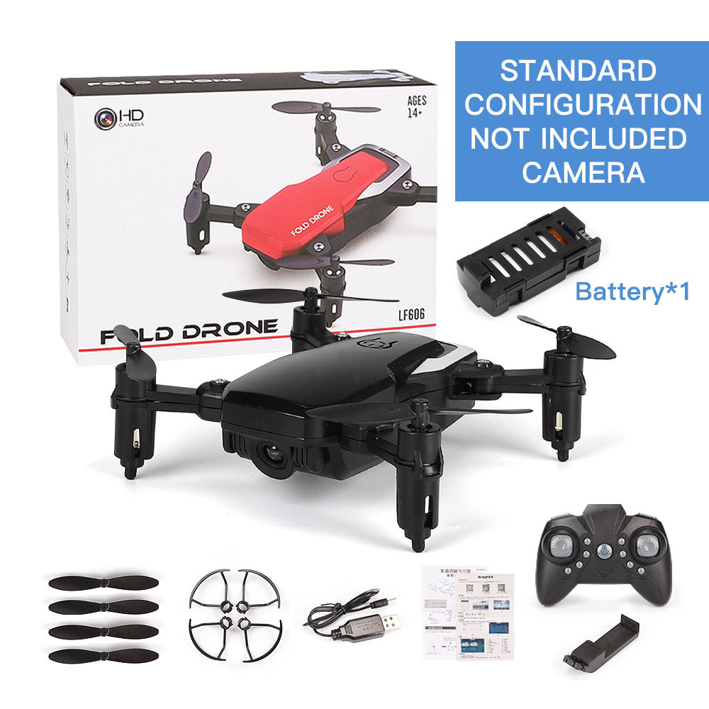 EBOYU LF606 2.4Ghz Mini Fold RC Drone 720P/480P WiFi FPV RC Drone Altitude Hold Headless Mode One Key Return RC Quadcopter RTF