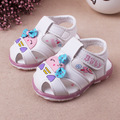 2017 Kids Sandals For Baby Shoes Child Summer Sandals Baby Girls Cartoon Bow Sandals Soft Outsole Baby Princess Sandals