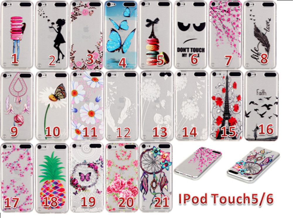 For Coque Apple iPod Touch 5 Case Fashion Flying Girl ...
