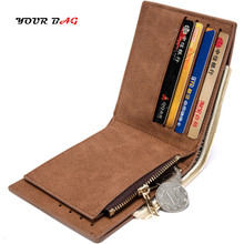UBAG 2018 Wallet For Men vintage PU Leather short fold in zipper wallet Coin Money Purses Bags Casual Male Card Purse RFID Gift