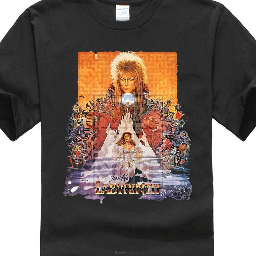 Лабиринт футболка культ Плёнки Movie 1980 s Фэнтези Ретро Винтаж Дэвид Боуи