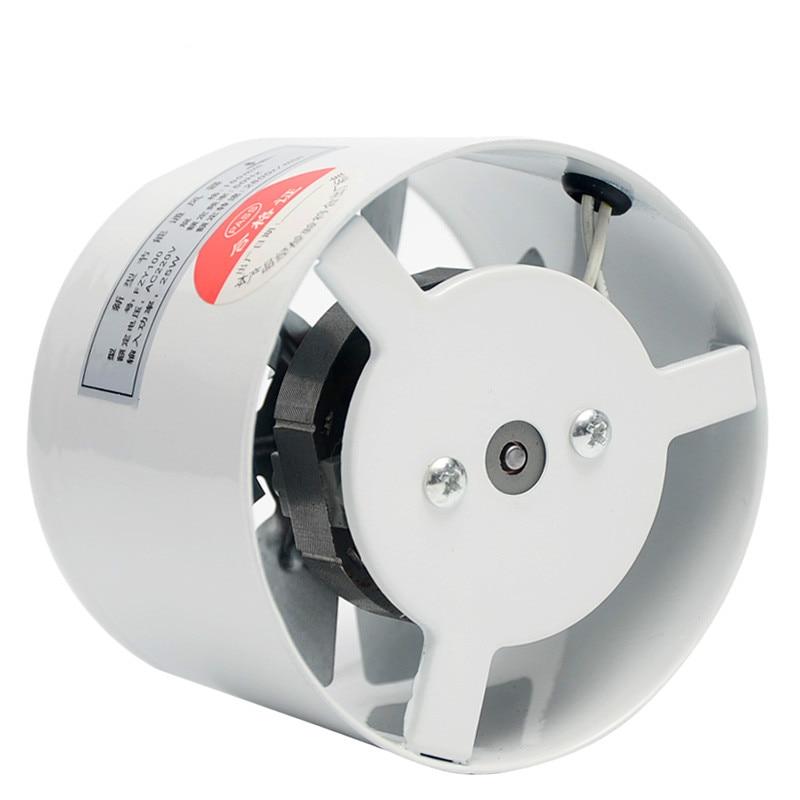 4 Inch Window Exhaust Fan Bathroom Kitchen Toilets Ventilation 2800R/Min 220V 25W White Color For Home Pipeline Fan Mute