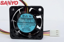 1pcs For Sanyo 109P0424H7D28  4015 Cooling Fans  P/N: A90L-0001-0441/39 DC24V 0.08A server fan