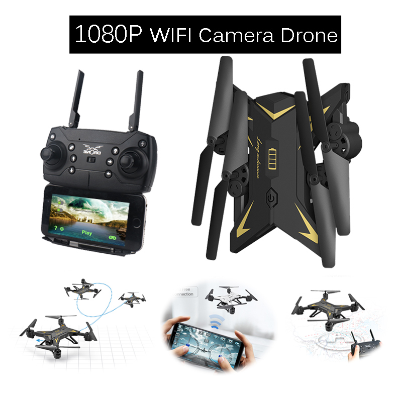 Remote Control quadcopter with 1080P or 0.3MP Camera WIFI FPV Foldable RC Helicopter Selfie Dron with 15 20 Minutes Flying Time