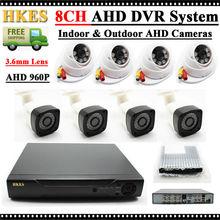 Video surveillance package 1.3MP AHD 960P Waterproof Safety Digital camera System 8Channel HDMI 1080N DVR NVR day/evening Digital camera Three.6mm