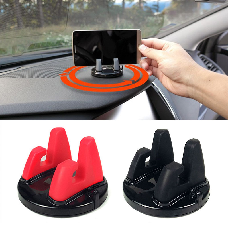 Universal 360 Degree Car Holder Mobile Phone Holder For IPhone 5s 6 7 Samsung GPS Soft Silicone Anti Slip Mat Desktop Stand