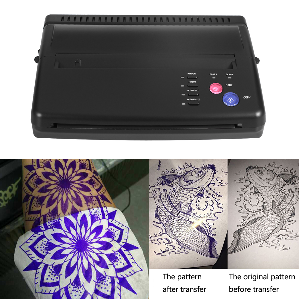 2Colors Tattoo Transfer Machine Thermal Stencil Copier Flash Printer Drawing LED Digital Tattoo Supply Body Art Stencil Machine цена