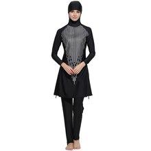 Zon Beschermen Modest Volledige Cover Moslim Islamitische Hijab Swimwear Vrouwen Burkinis voor Moslim Vrouwen Zwarte Kleur