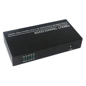 Image 4 - Convertidor Gigabit SFP, fibra optica Switch, ranura SFP de 1 puerto a conector TX RJ45 de 8 puertos, interruptor transceptor SFP de fibra óptica