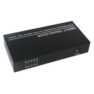 Image 4 - SFP ギガビットコンバータフィブラ視神経スイッチ 1 ポート SFP スロットに 8 ポート TX RJ45 コネクタ SFP 繊維光スイッチ