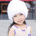 Spring and Autumn Winter Children Warm Rex Rabbit Knitted Hat Baby Boy and GirlsVariety of Color CapS to 2-9 Years Old Children