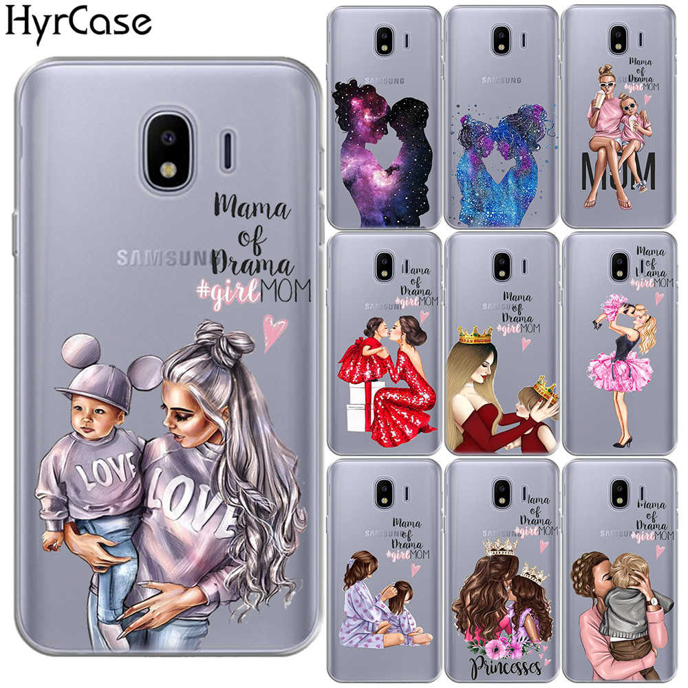 Baby Mom Girl Soft Case Cover For Samsung Galaxy J3 J5 J7 2016 2017 J2 Pro J5 Prime J4 J6 J7 J8 2018 Note 4 5 8 9 M10 M20 M30