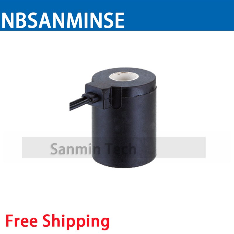 XFE Automobile Valve Series Coil Electrical Solenoid Valve Coil DC24V Voltage Lead Type Valve Coil Sanmin