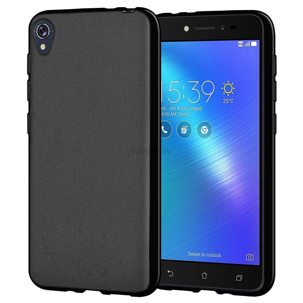 the best attitude 79ba9 8bff7 US $1.79 10% OFF|Phone Case For ZenFone Live L1 ZA550KL Case Matte Soft  Silicone Back Cover For Asus ZenFone Live L1 ZA550KL ZA 550KL Asus X00RD-in  ...