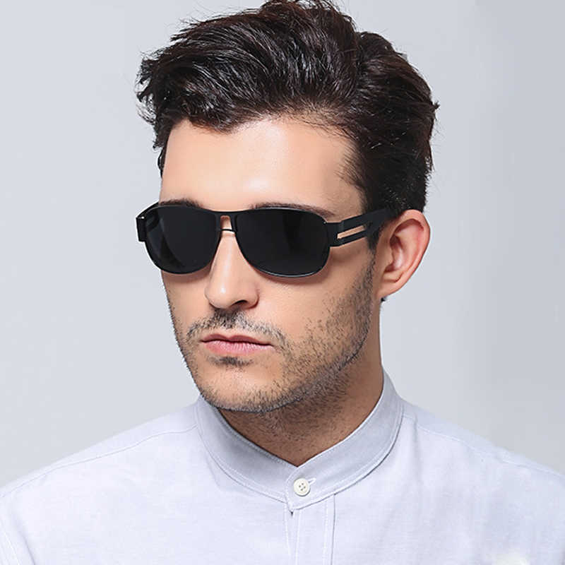 481bfeb4b4 ... High quality men s Polarized sunglasses star with stylish Sun Glasses  outdoor metal frog mirror 8459 Glasses ...