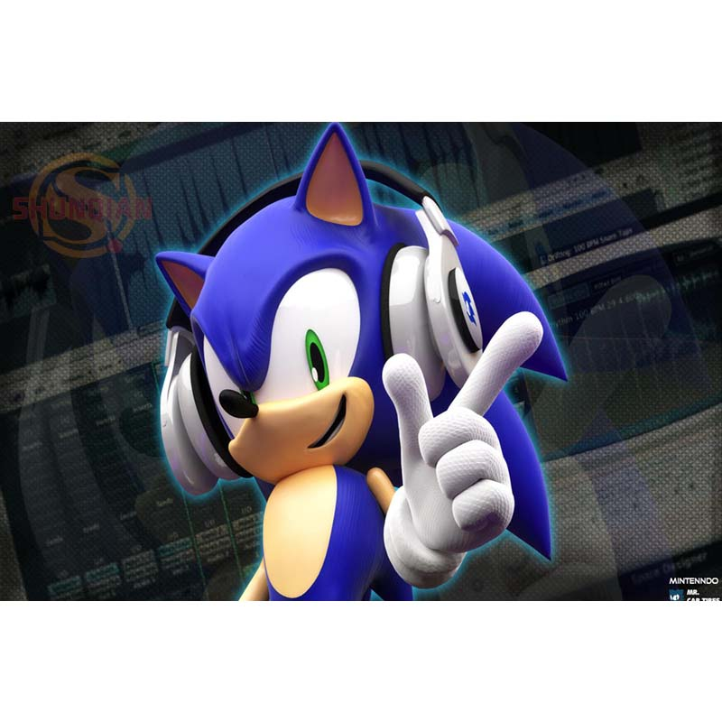 US $3 53 16% OFF Best Nice Sonic 3D Silk Poster Home Decor Classic Fashion  Movie Custom Posters Print Best Gift Canvas Poster Cloth Fabric Poster-in