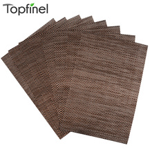Top Finel 2016 Set of 8 PVC Placemats for Dining Table Runner Linen Place Mat in Kitchen Accessories Cup Wine Mat Coaster Pad