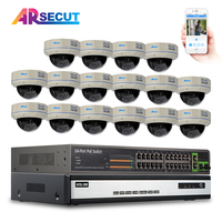 6TB HDD 16CH NVR 1080P HD H 264 25fps 30 IR Outdoor Vandal Proof Dome Network