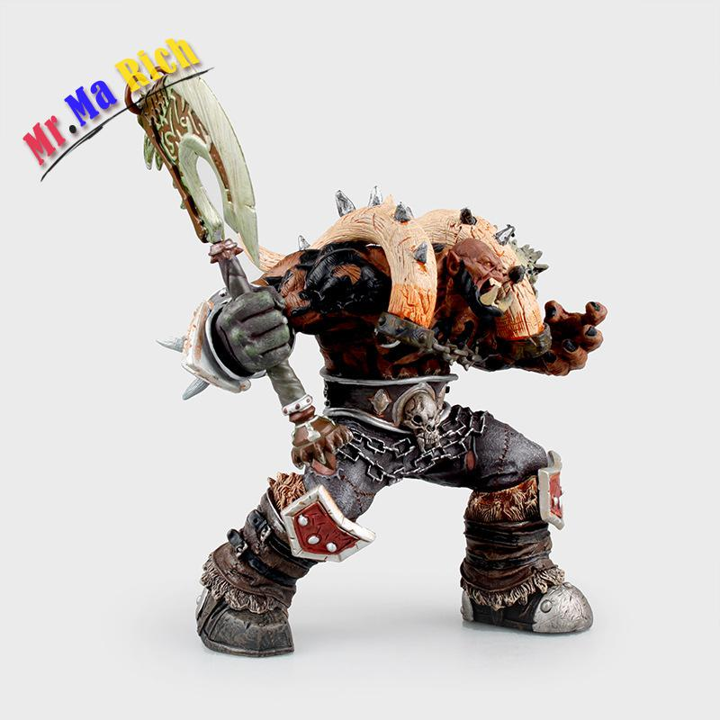 "19cm/7.5"" Orc Warrior Garrosh Hellscream Action Figure Wow Premium Series 3 Garrosh Hellscream Doll Toy"