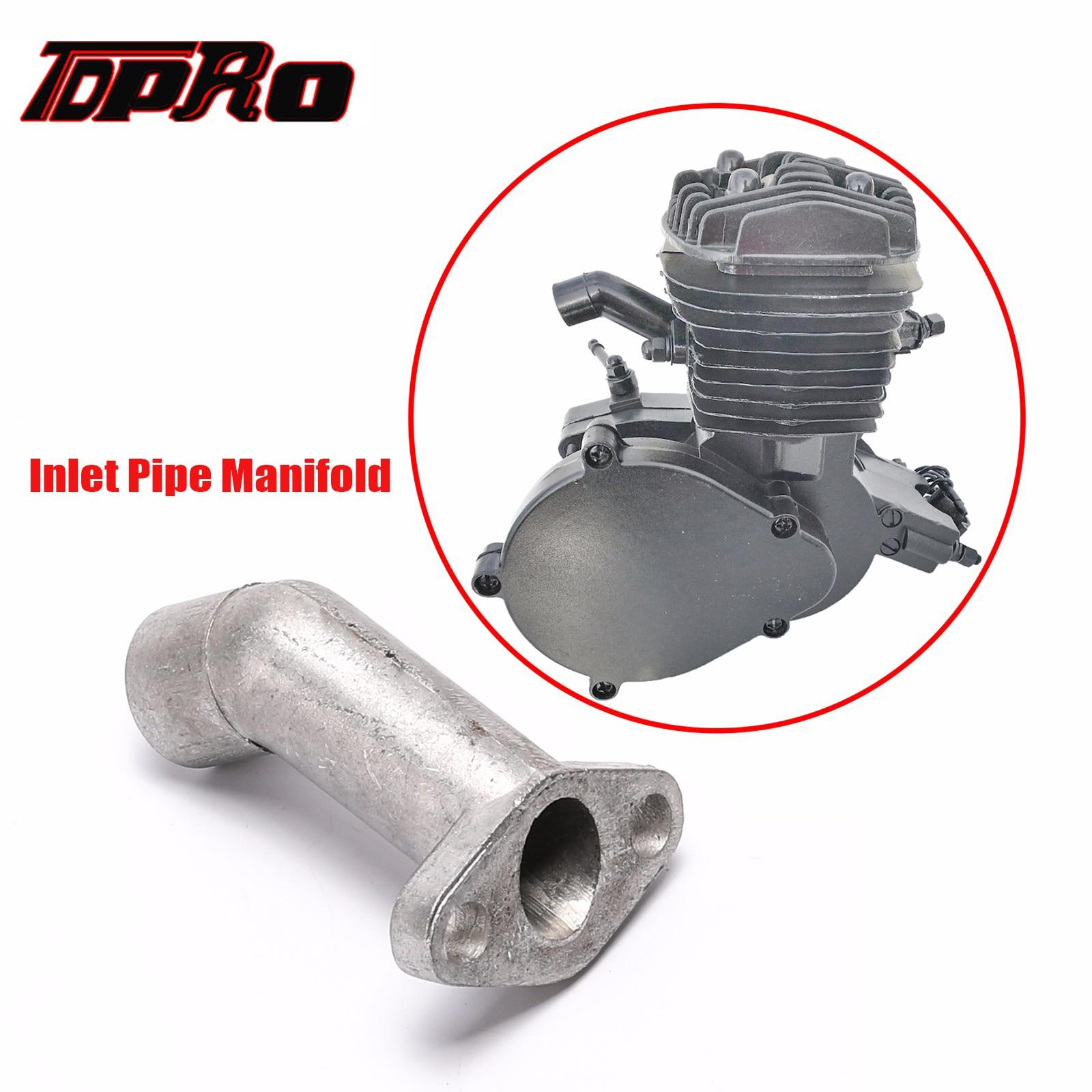 TDPRO Carburetor Short Offset Exhaust & Inlet Pipe Intake Manifold For 43cc 47cc 49cc 66cc 80cc 2 Stroke Motorized Bicycle Bike