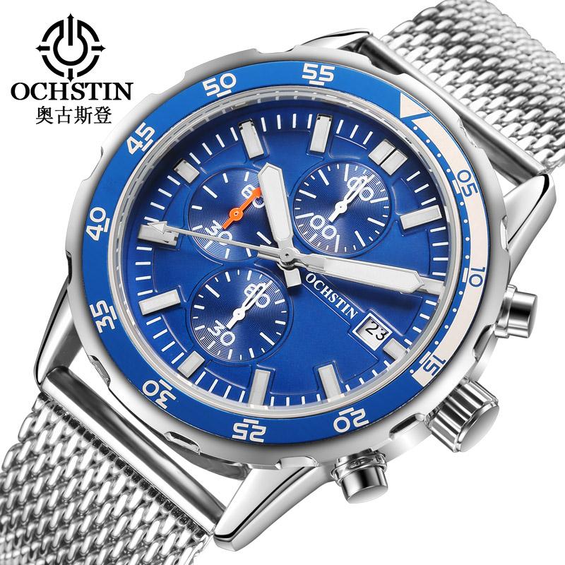 Prix pour OCHSTIN Marque Hommes Montre Top De Luxe Mâle Étanche Sport Quartz En Acier Inoxydable Montre-Bracelet Hommes Chronographe Horloge relojes hombre