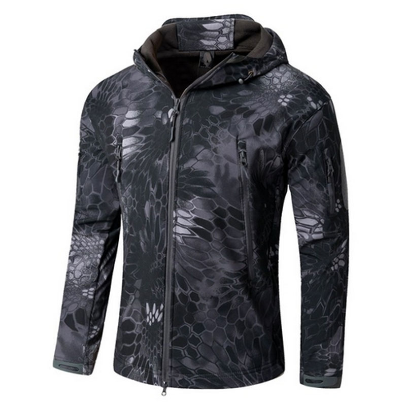 Military Jacket Hiking Jacket Men Militar Tactical Softshell Warm Fleece Waterproof Coat Male CAMO Jacket Shark Skin TAD Outdoor 2016 high quality alpha n 3b mens shark softshell jacket tad outdoor male warm waterproof man fleece jackets outerwear