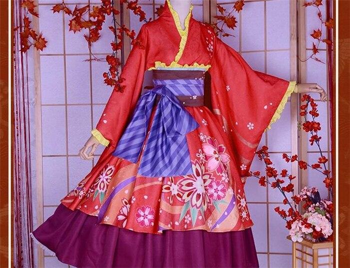 new GINTAMA Kagura leader kimono cosplay costume Halloween ball anime dress free shipping