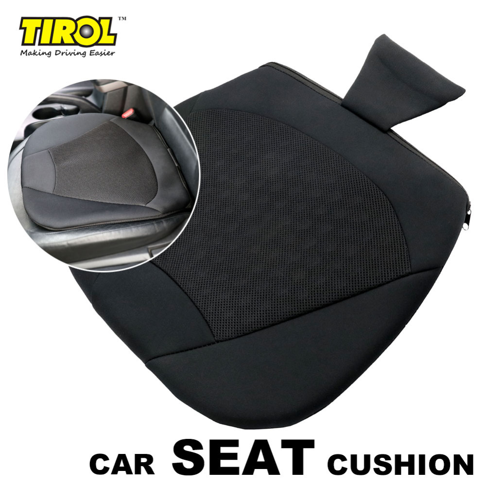 TIROL Universal Breathable Car Seat Cushion for Car Drivers Seat or Office Chair, Orthopedic T24098a Free Shipping