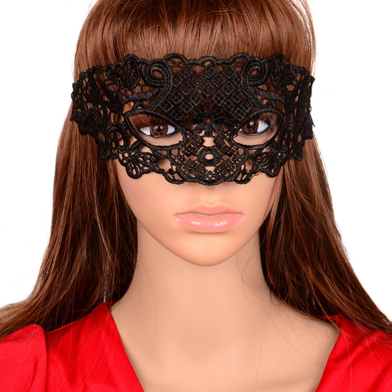 20Pcs Women Black Sexy Lace Eye Mask Party Masks For Masquerade ...