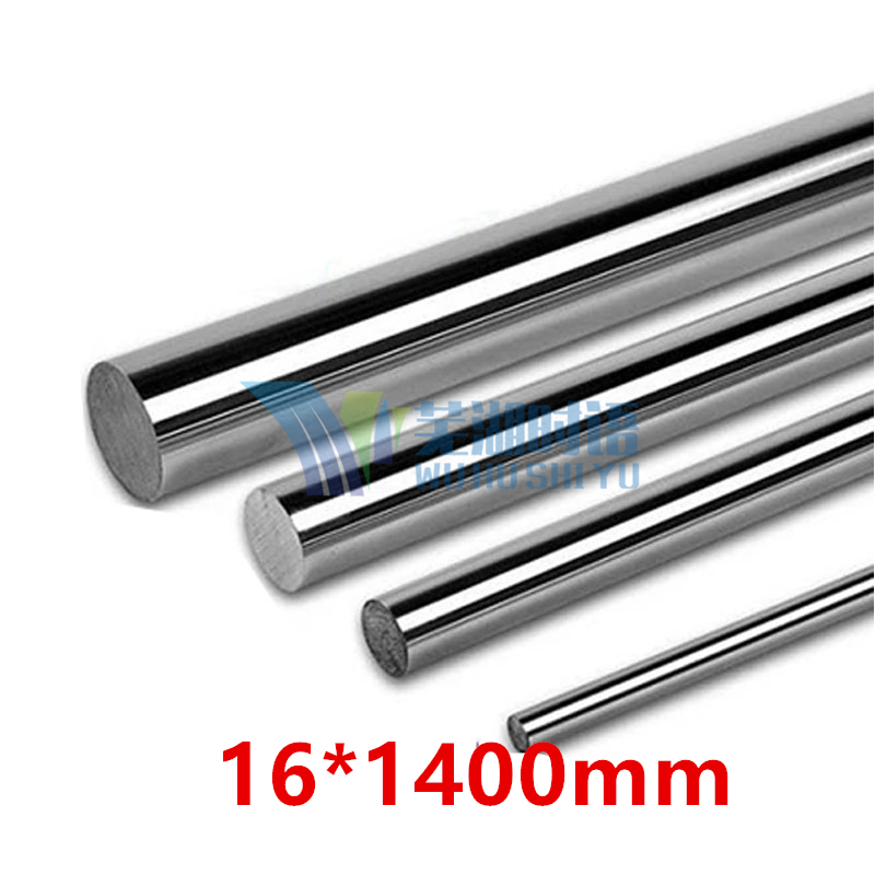 linear shaft 16mm 16*1400mm linear round shaft harden rod chrome plated rod for 16mm linear block cnc parts 2pcs linear shaft 500mm long diameter 20mm l 500mm harden linear rod round shaft chrome plated
