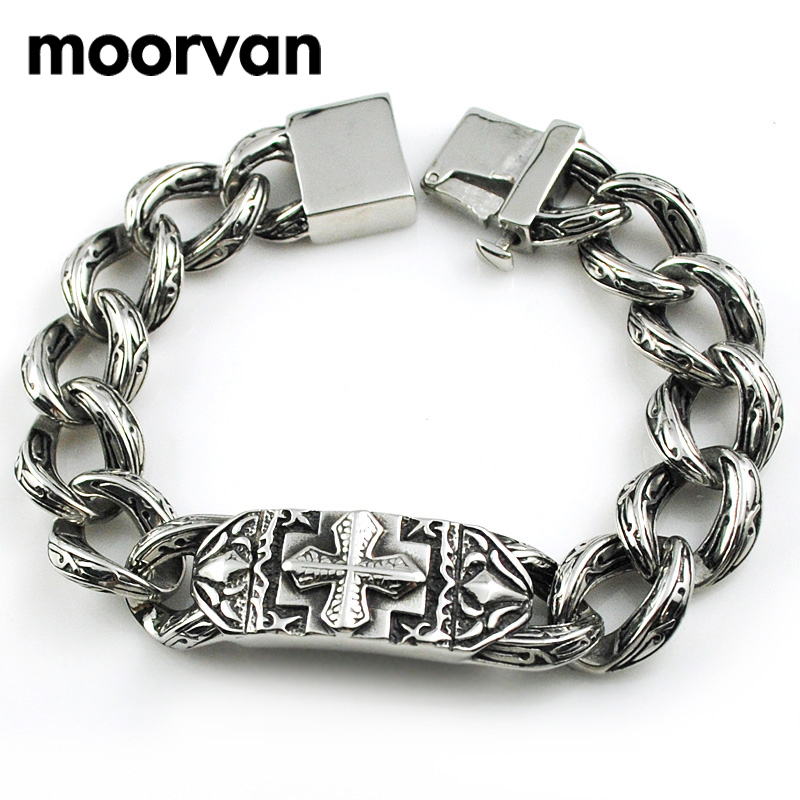 fashion id bracelet moorvan stainless steel fashion middle ages vintage 4900