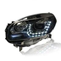 2 шт. ownsun LED U Sharp Ангел слезоточивый глаз ДХО HID Биксеноновая проектора Len Замена Фары для автомобиля для Renault Koleos 2012 2016