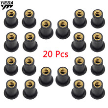 M5 5MM Motorcycle Windscreen Well nut Rubber Nuts FOR KTM 390 200 125 Duke RC125 RC200 RC390 SUZUKI SV650/S SFV650 GLADIUS