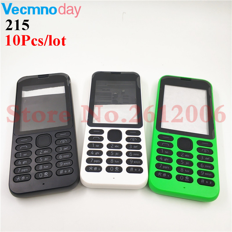 10Pcs/lot New Full Housing <font><b>Case</b></font> Cover Front Frame With Key Board Display Glass+Middle Frame+Back Cover For <font><b>Nokia</b></font> <font><b>215</b></font> image