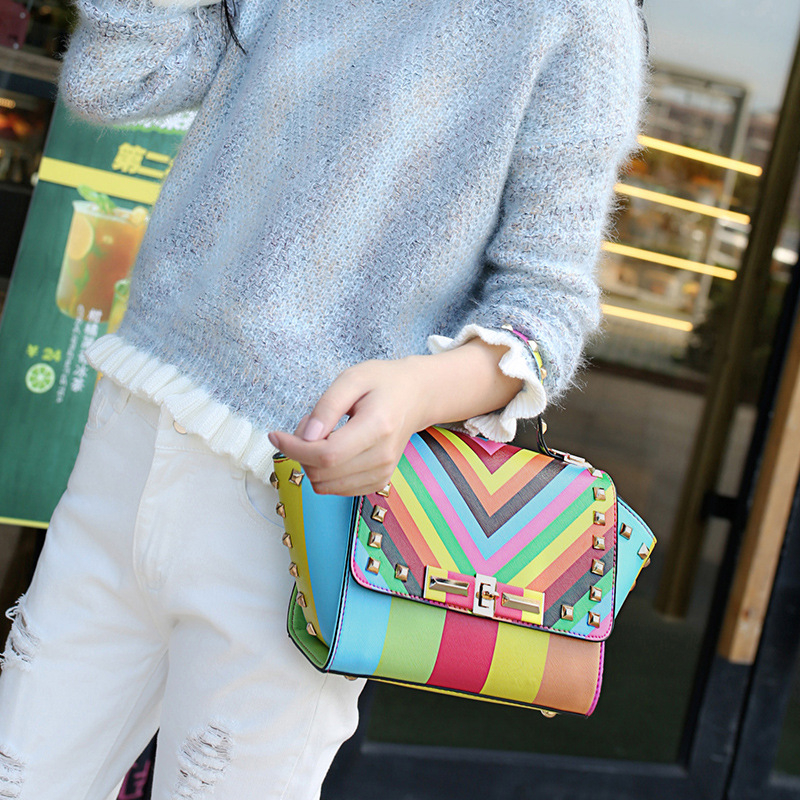 2017 New Arrival Multicolor Women Handbags Casual Shoulder Bag Ladies Fashion Messenger Bag  Small Totes Bags Clutch Female Gift casual small candy color handbags new brand fashion clutches ladies totes party purse women crossbody shoulder messenger bags