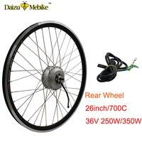 36V rear motor wheel 36V 250W 350W electric bike kit 26inch 700C (28INCH) Rear hub motor wheel ebike bldc motor for mtb bike
