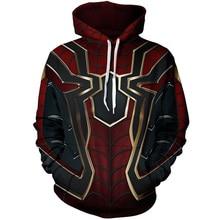 Cloudstyle 3D Anime Hoodies Men Iron Spiderman Cosplay Full Print Streetwear Hoody Sweatshirts Tops Spring Autumn Pullovers