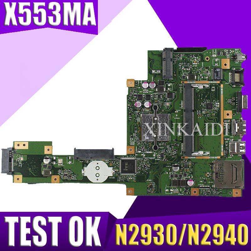 XinKaidi  For ASUS A553M X503M F503M X553MA Laptop Motherboard N2930/N2940 CPU X553MA REV.2.0 Mainboard Test Good