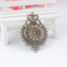 Decoration DIY Connectors Embellishments Filigree-Flower Bronze Findings Wraps Gift 5pcs