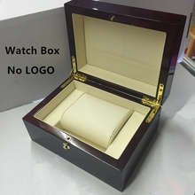 Top Quanlity Red Wood Watch Box Fashion Brand Watch Storage Boxes Watch Gift Case With Lock Can Customize LOGO P027