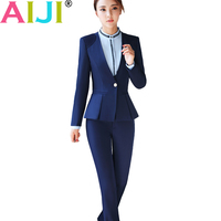 Fashion Women Suits Slim Work Wear Office Business Ladies Long Sleeve Blazer Skirt Suits Costumes Plus